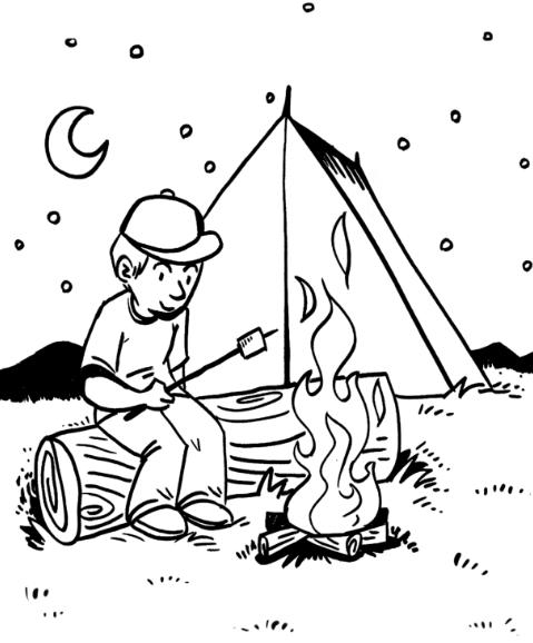 campfire coloring page campfire coloring page free printable coloring pages campfire coloring page