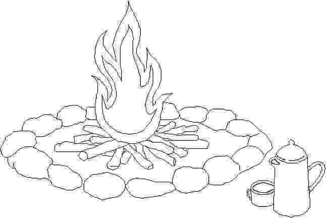 campfire coloring page camping coloring pages best coloring pages for kids coloring campfire page