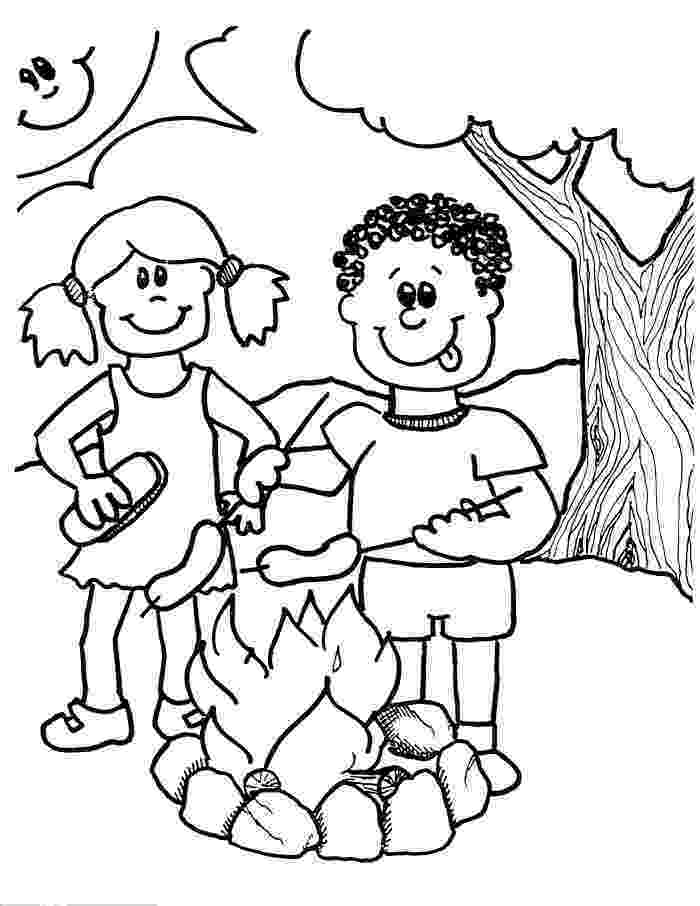 campfire coloring page firewood black and white clipart clipart kid camping campfire coloring page