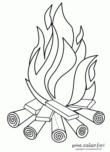 campfire coloring page mewarnai api unggun u warna campfire coloring page