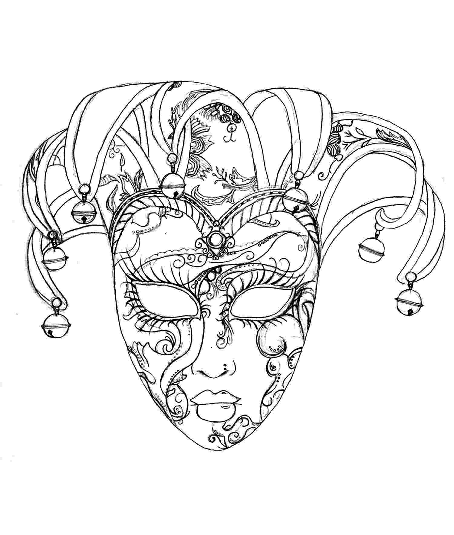 carnival mask coloring page beautiful lady in carnival mask coloring page free carnival mask page coloring