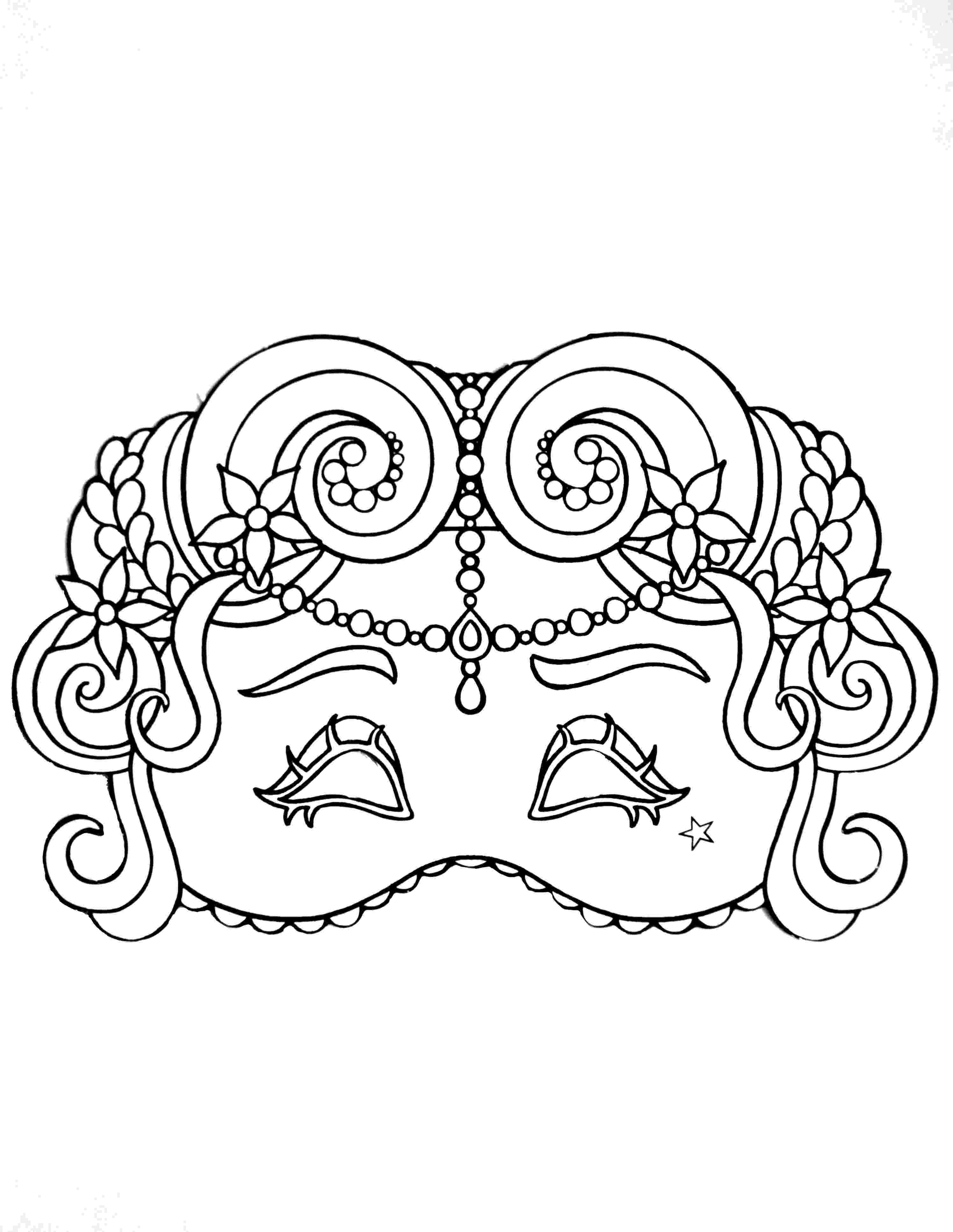 carnival mask coloring page coloriage masque vénitien vampire grande image coloriage carnival coloring mask page