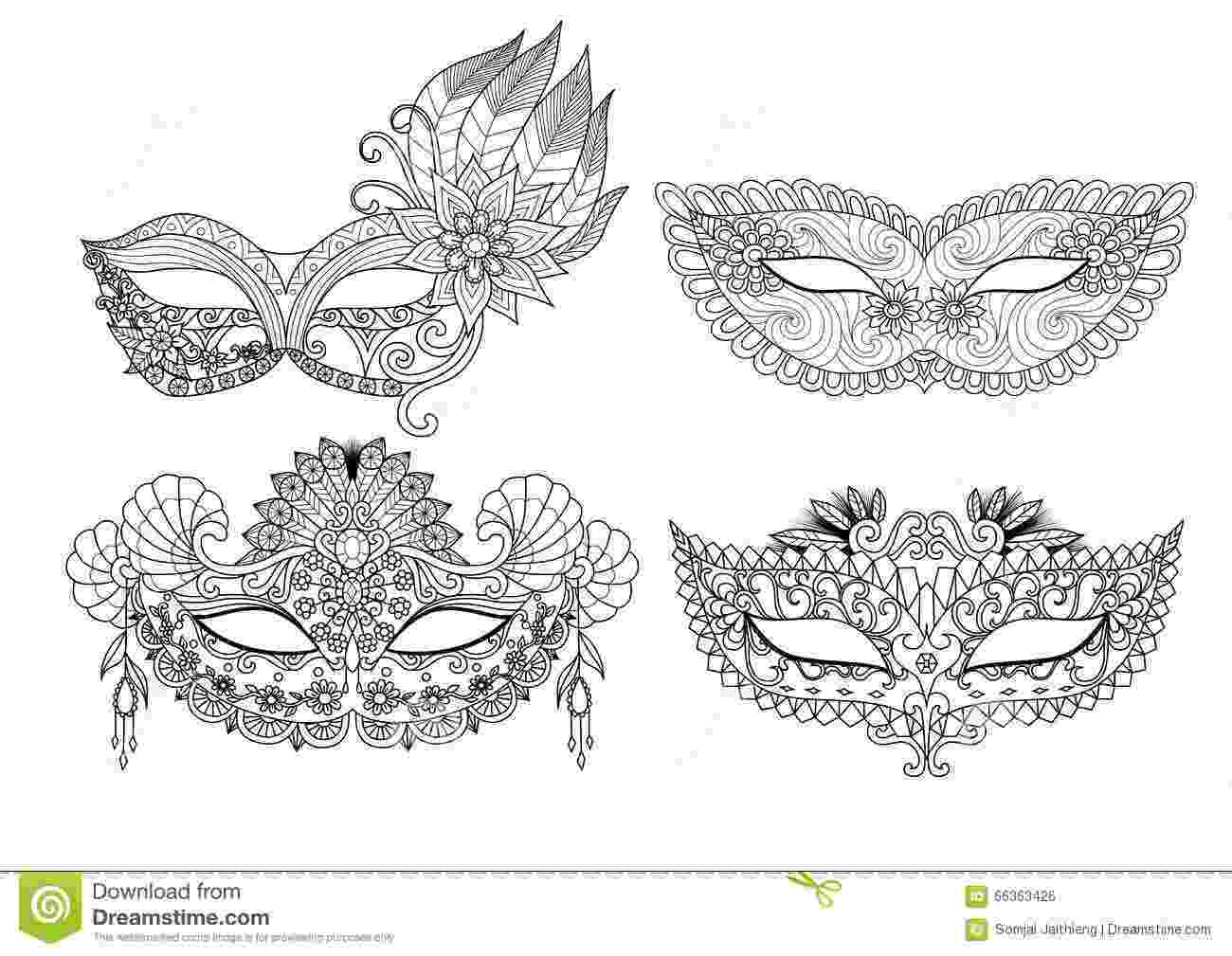 carnival mask coloring page máscara de carnaval para colorir ilustração vetorial carnival mask page coloring