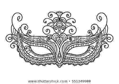 carnival mask coloring page natalia lyubova39s portfolio on shutterstock page mask coloring carnival