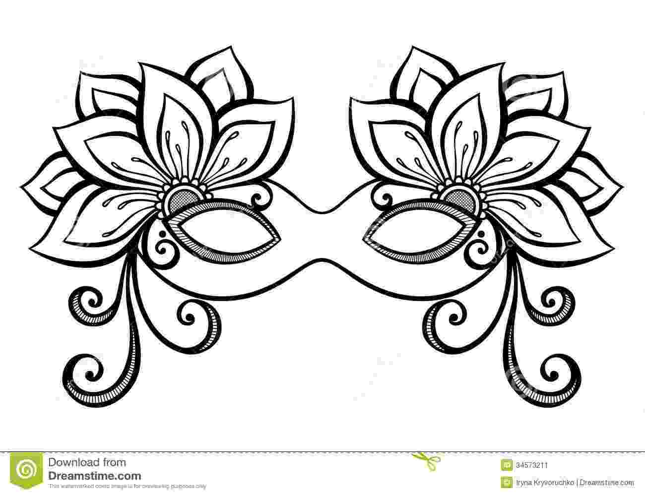 carnival mask coloring page venice mask coloring pages hellokidscom carnival mask coloring page