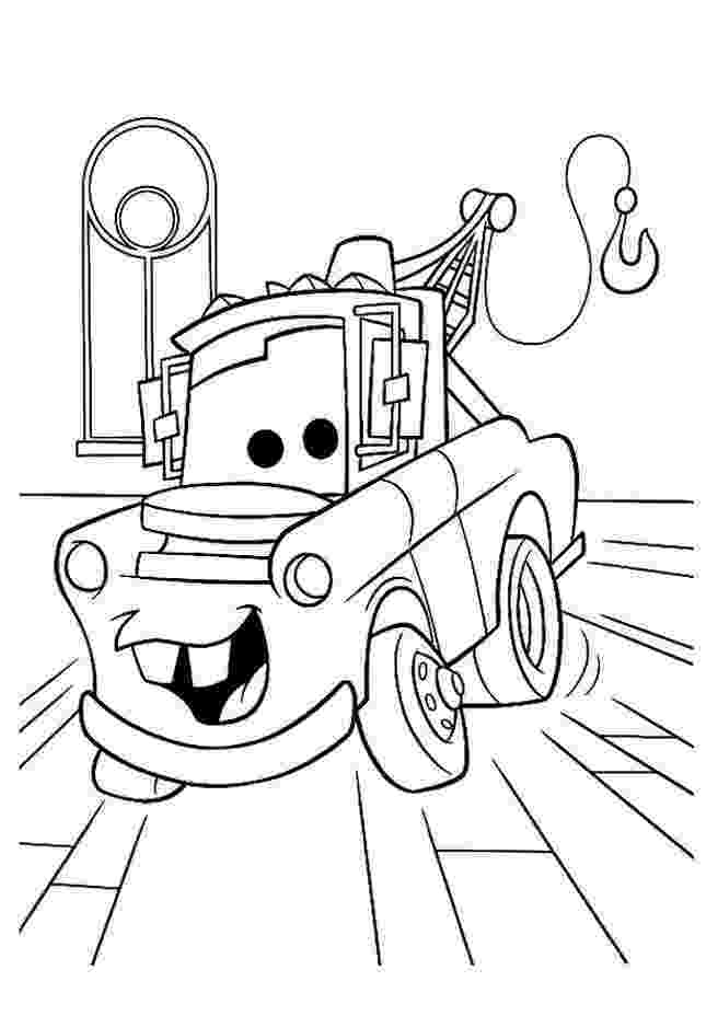 cars to color printable mater from cars coloring pages download and print for free to printable color cars