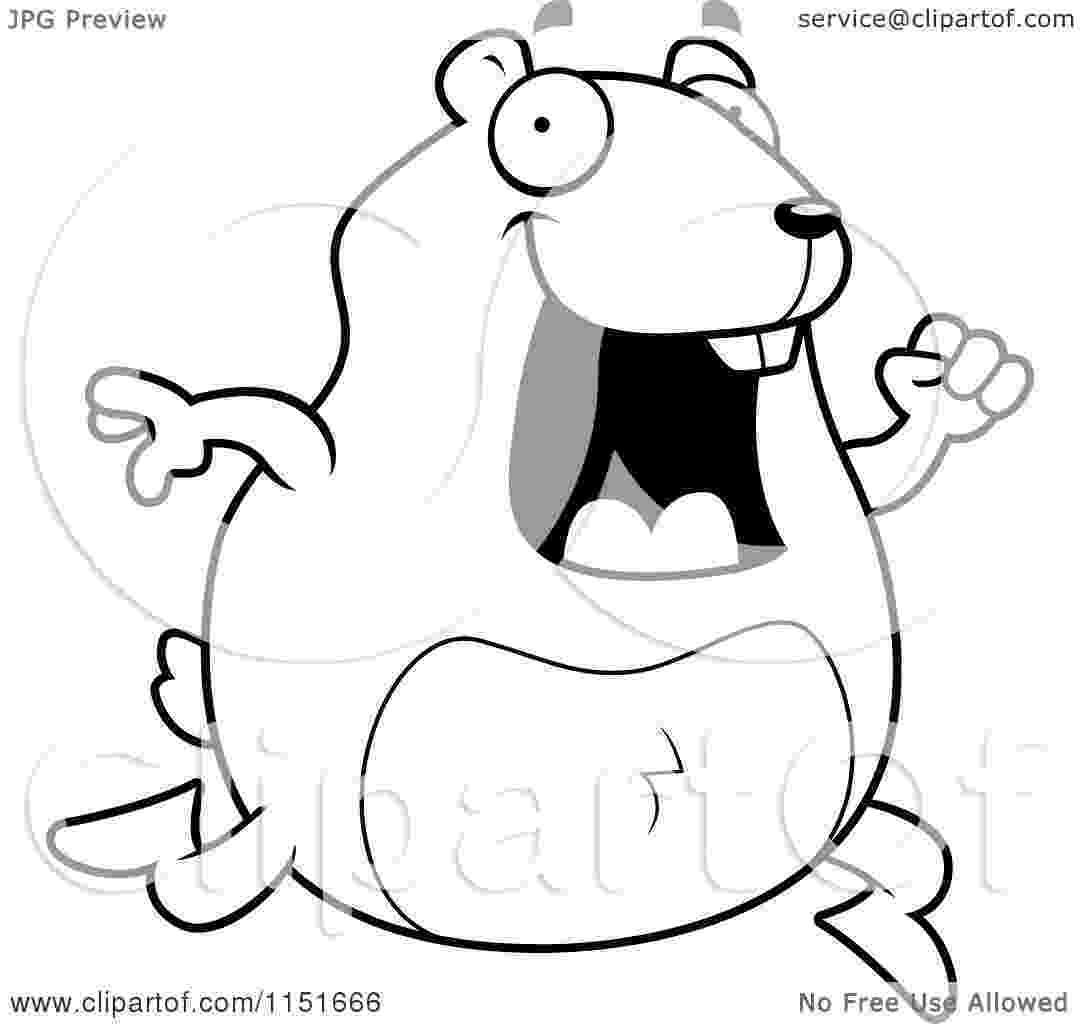cartoon hamster cartoon clipart of a black and white waving hamster hamster cartoon