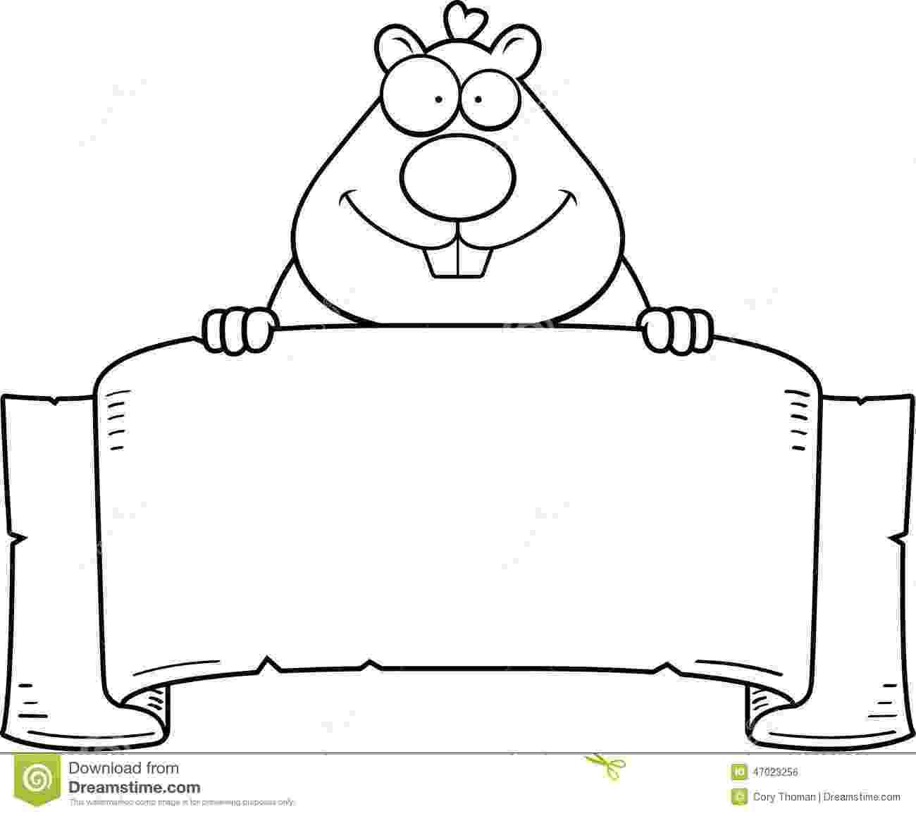 cartoon hamster cartoon hamster banner stock vector illustration of sign cartoon hamster