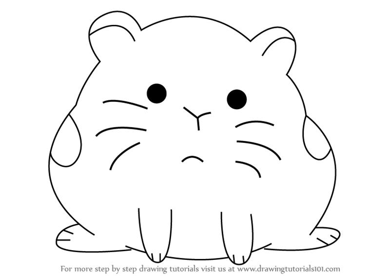 cartoon hamster learn how to draw hamster from we bare bears we bare cartoon hamster
