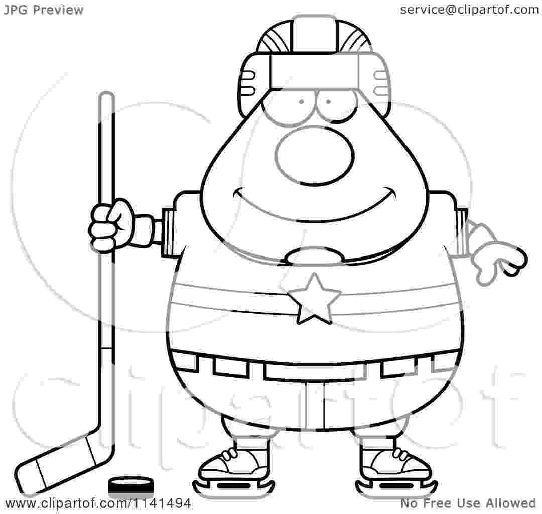 cartoon hockey player hockey player coloring page tracing twisty noodle hockey cartoon player