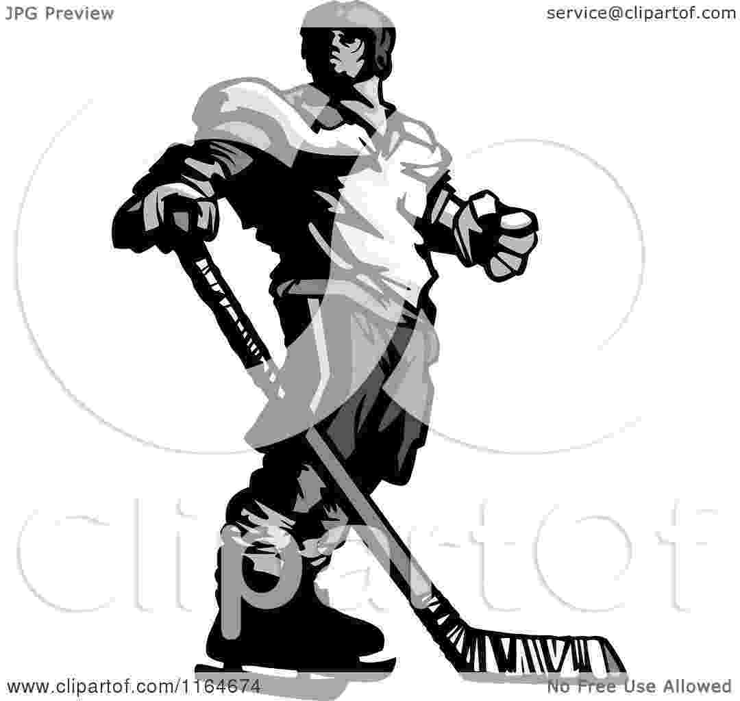 cartoon hockey player stock images similar to id 106999751 vector silhouettes cartoon player hockey
