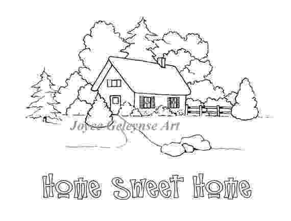 casa de campo para colorear casa campo pequeña prado valla madera blanco negro para para casa colorear campo de