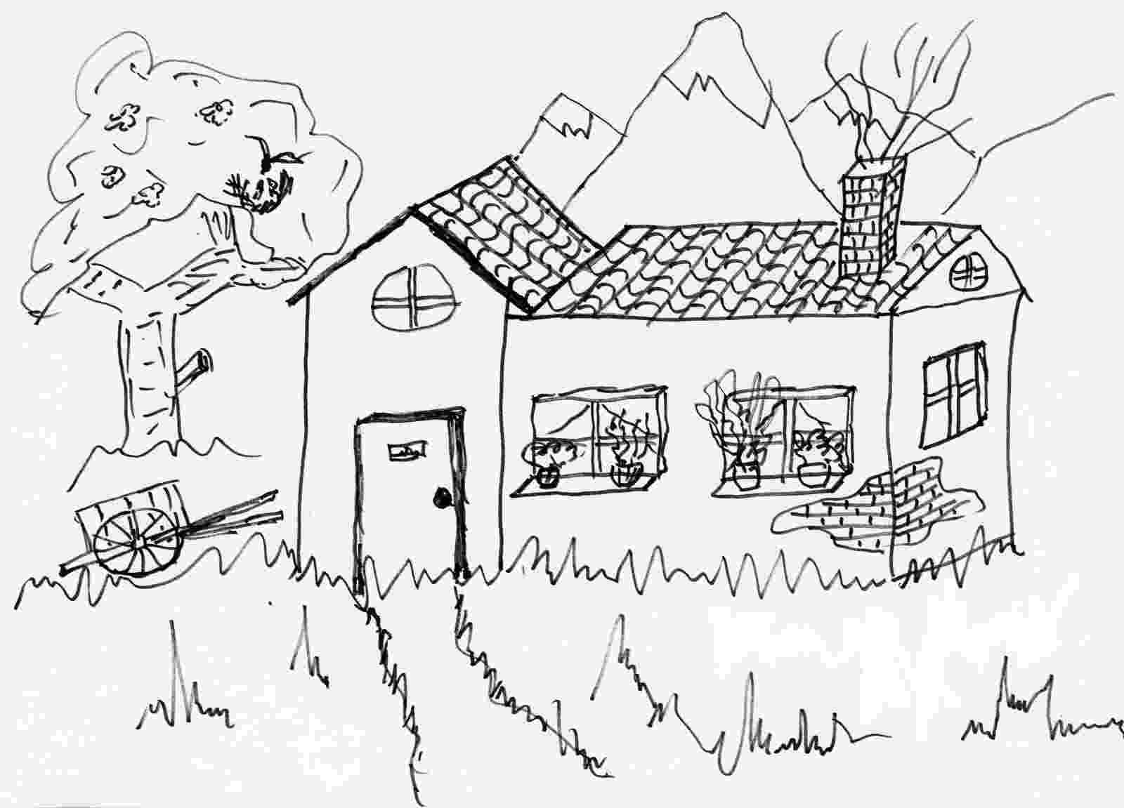 casa de campo para colorear casa de campo dibujalia dibujos para colorear de colorear campo para casa
