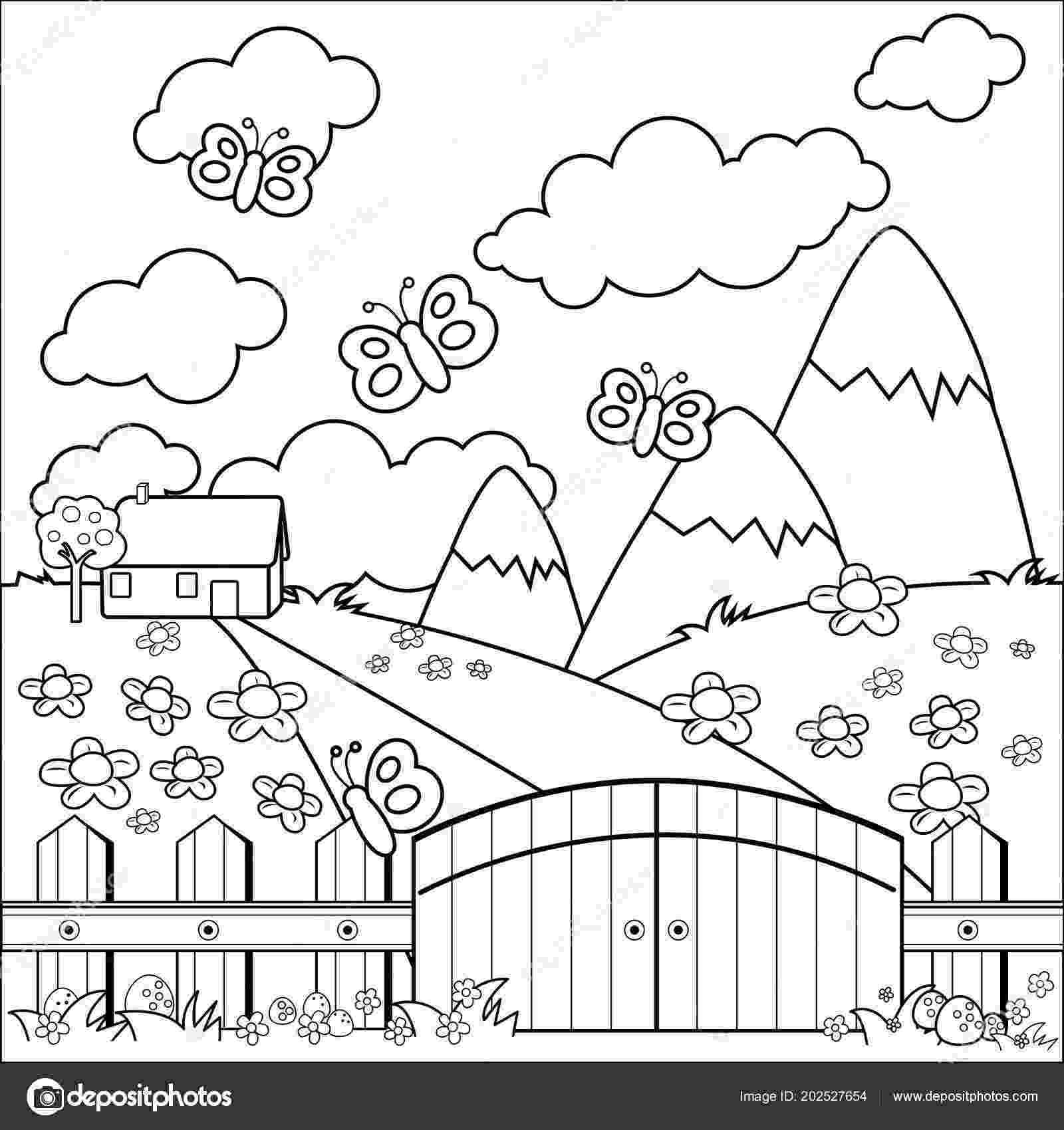 casa de campo para colorear casa de campo dibujalia dibujos para colorear para campo colorear casa de