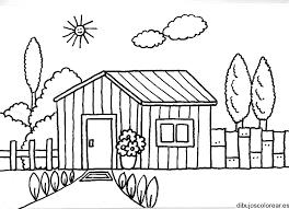 casa de campo para colorear colorea tus dibujos casa de campo para colorear campo casa colorear de para