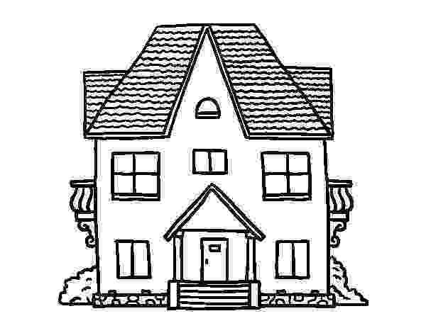 casa de campo para colorear dibujo de casa de campo con balcones para colorear campo para casa colorear de