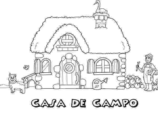 casa de campo para colorear dibujo de casita de campo para colorear dibujosnet campo colorear de casa para