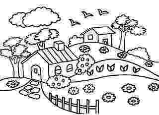casa de campo para colorear dibujo de casita de campo para colorear dibujosnet de para campo casa colorear