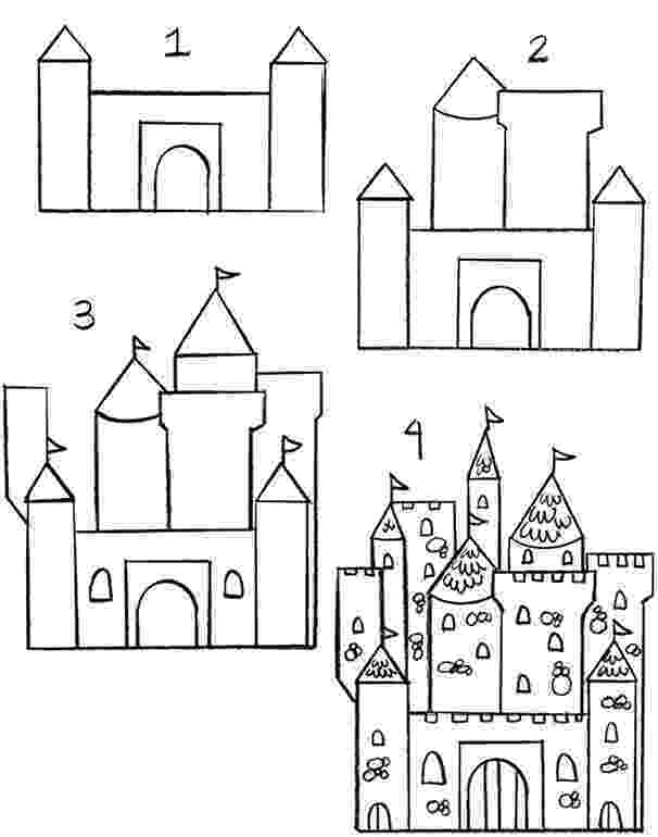 castles to draw daily doodly easy step by step drawings for beginner draw to castles