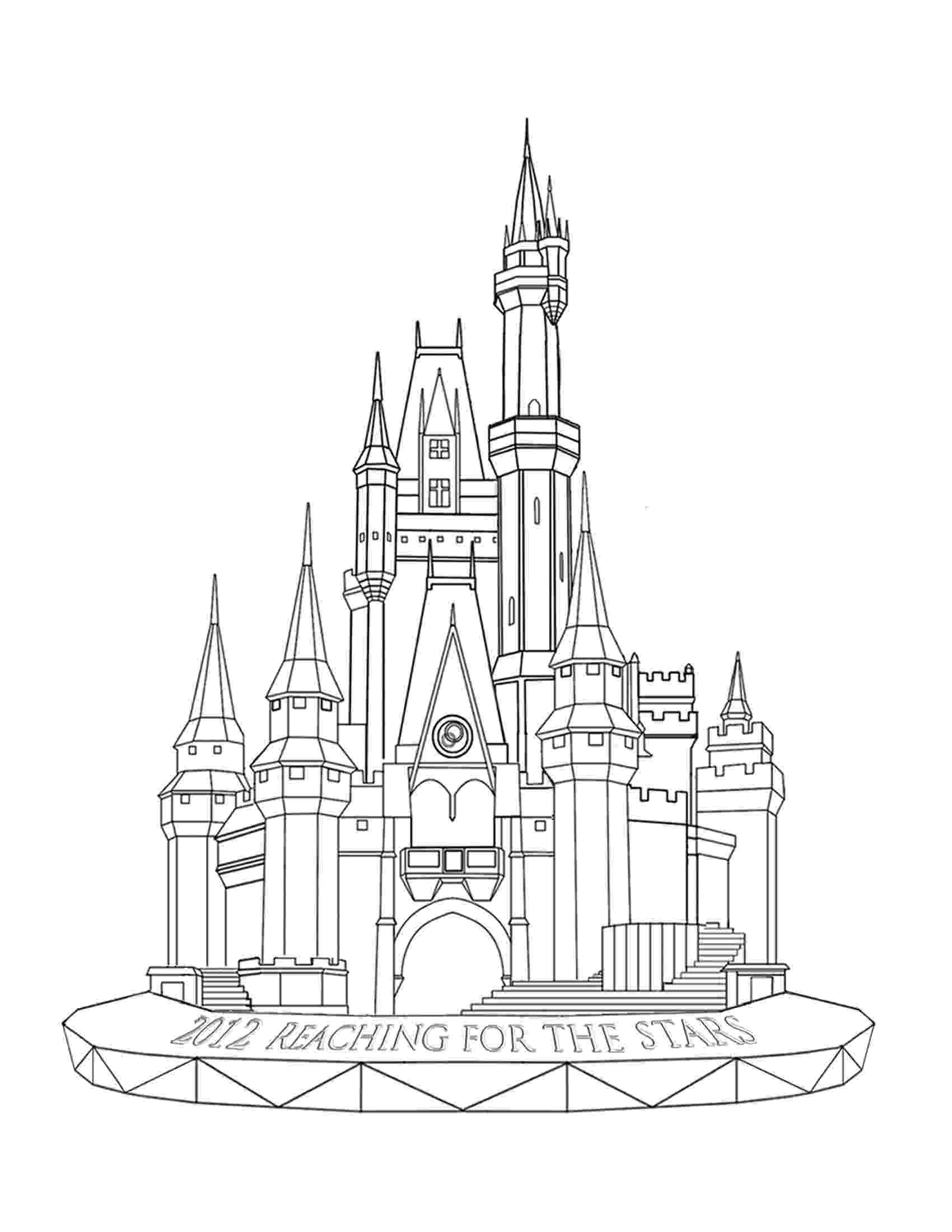 castles to draw disney castle outline clipart clip art library draw castles to