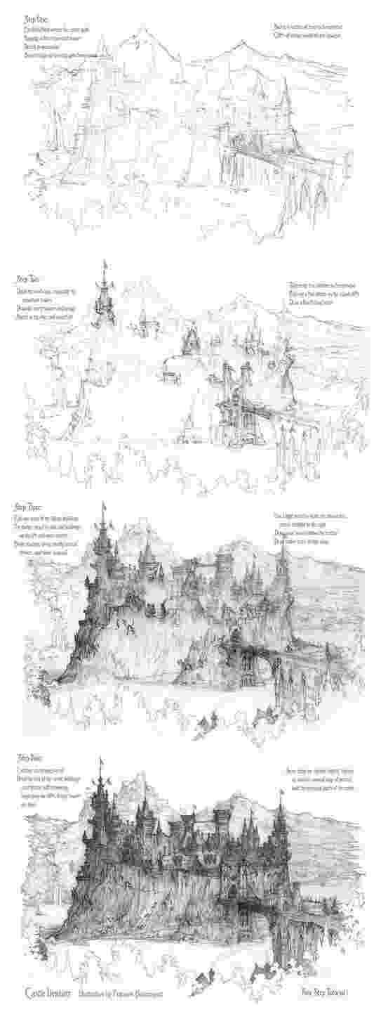 castles to draw four step castle drawing tutorial by built4ever on castles to draw