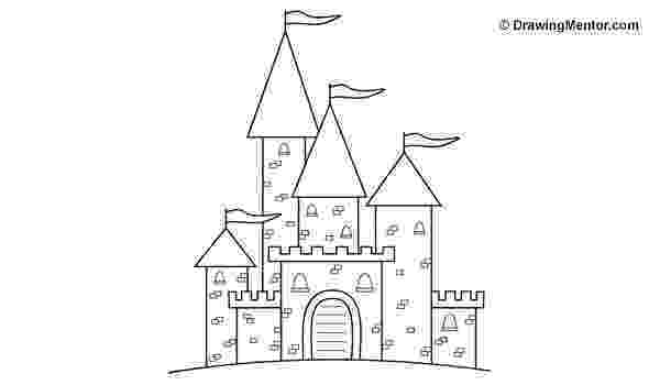 castles to draw how to draw a castle drawing mentor castles draw to