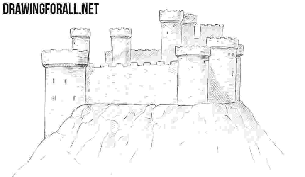 castles to draw how to draw a castle drawingforallnet to draw castles