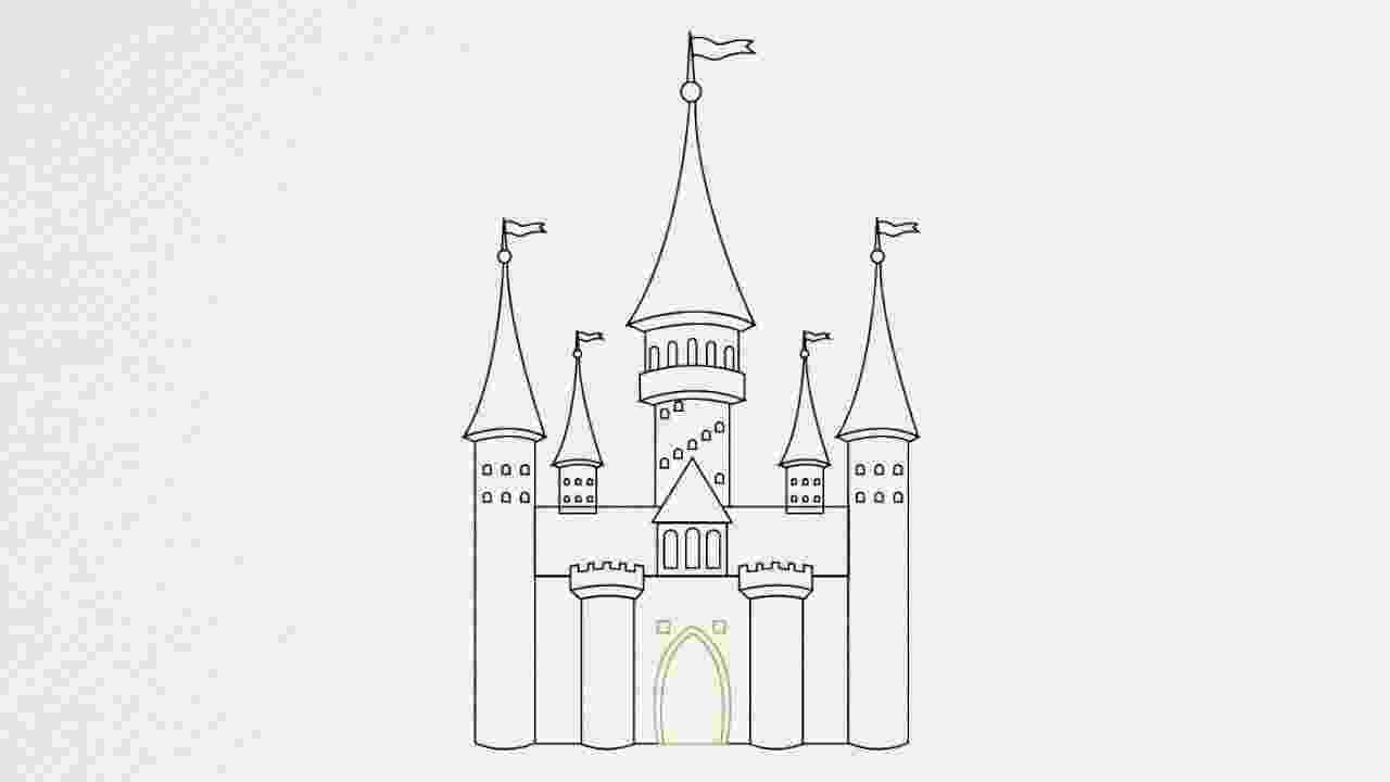 castles to draw how to draw a castle step by step youtube castles draw to