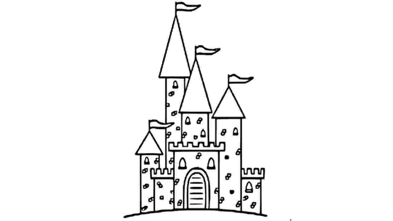 castles to draw how to draw castle pencil drawing for kids step by step to draw castles