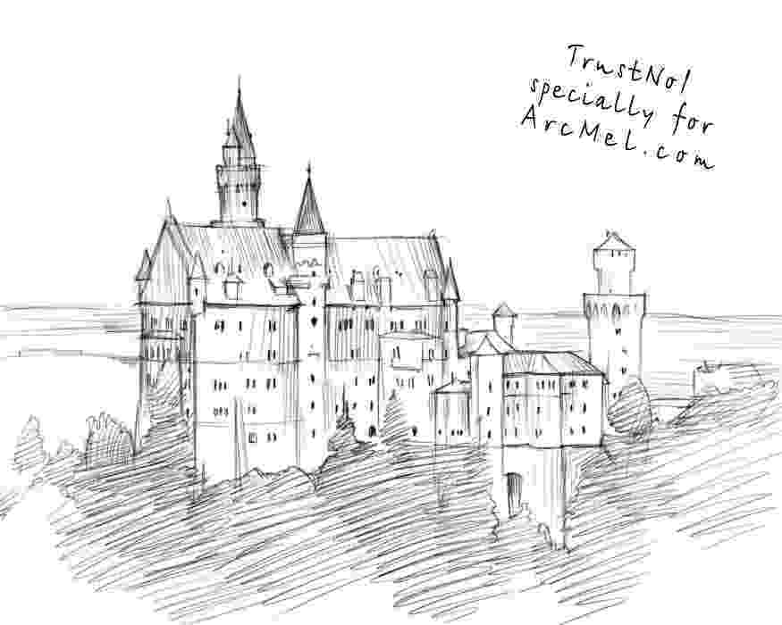 castles to draw how to draw castle step by step arcmelcom to draw castles