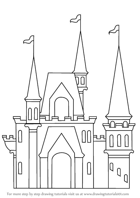 castles to draw learn how to draw a castle for kids castles step by step to draw castles