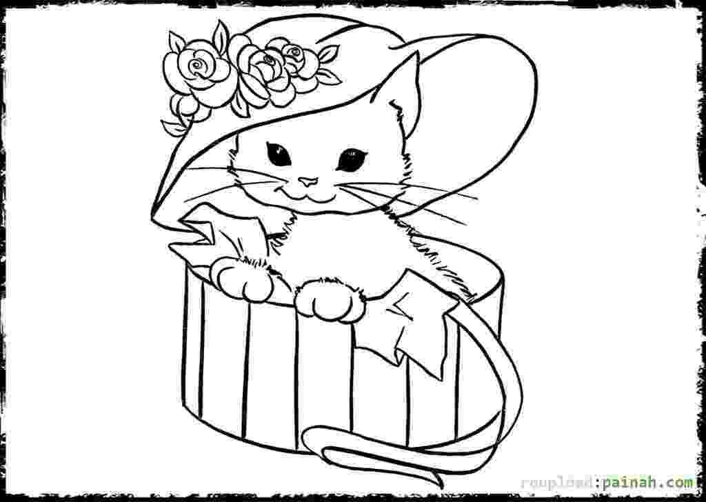 cat and kitten coloring pages cute kitten printable coloring pages coloring home cat and pages coloring kitten