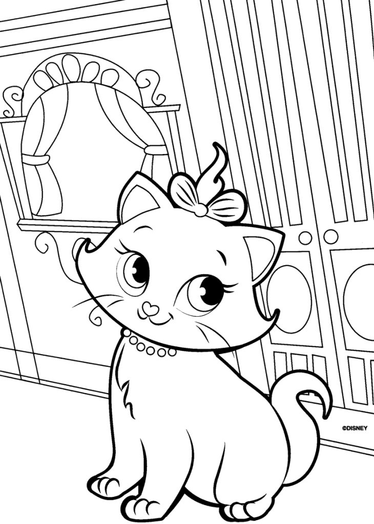 cat and kitten coloring pages the marie cat coloring pages team colors pages cat coloring and kitten