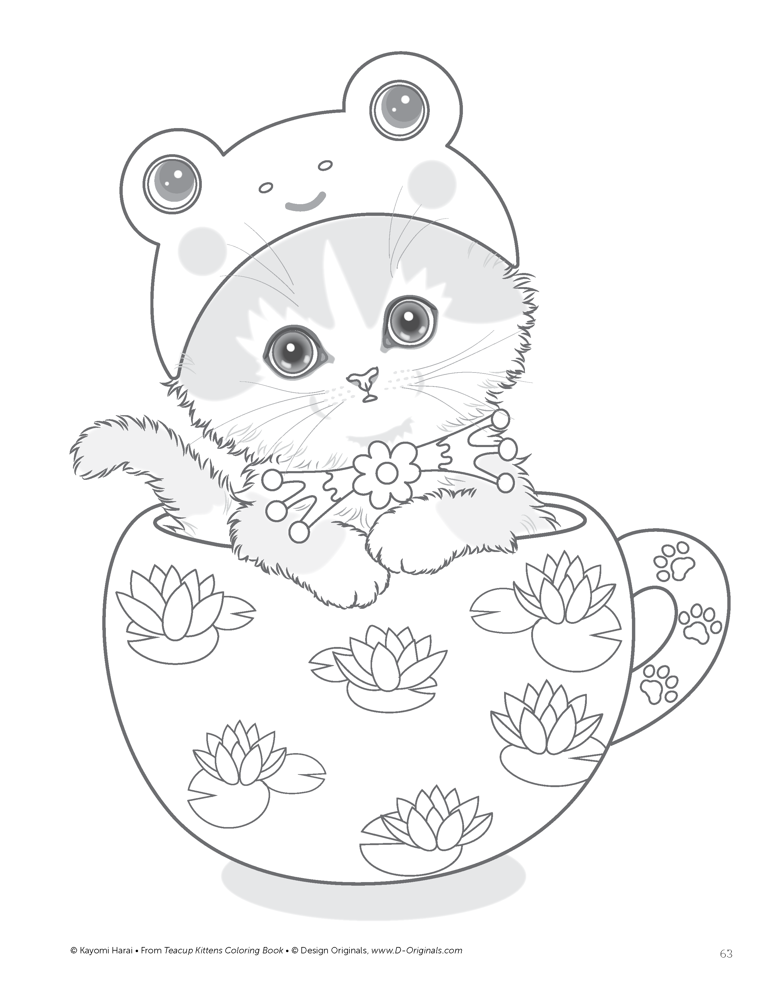 cat coloring book pages amazoncom teacup kittens coloring book design originals book cat pages coloring
