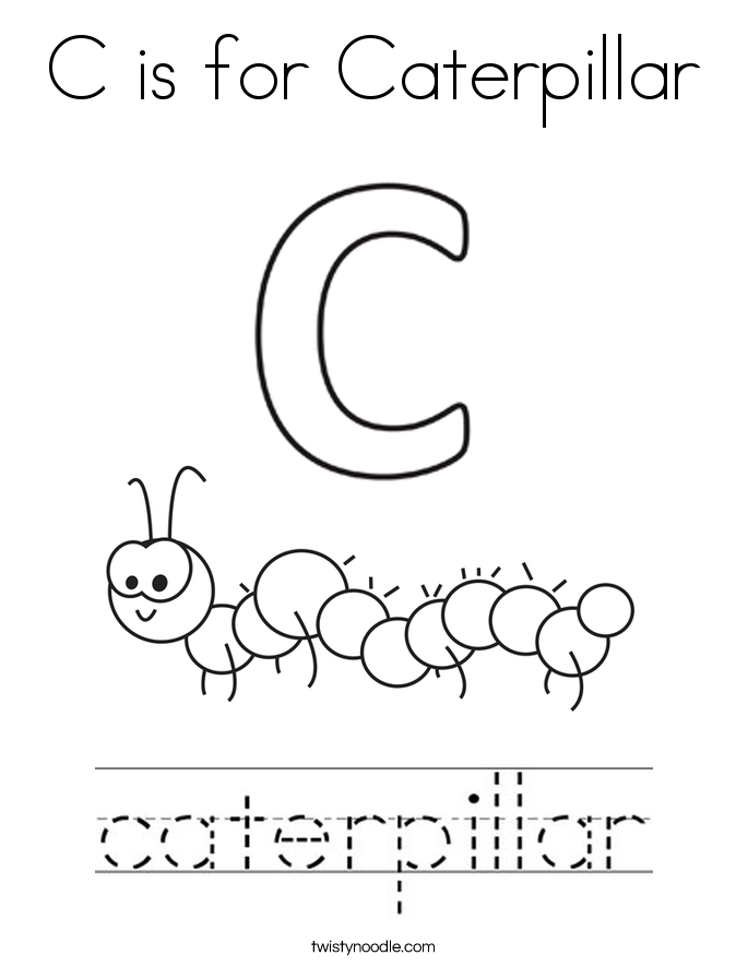 caterpillar for coloring c is for caterpillar coloring page twisty noodle for coloring caterpillar