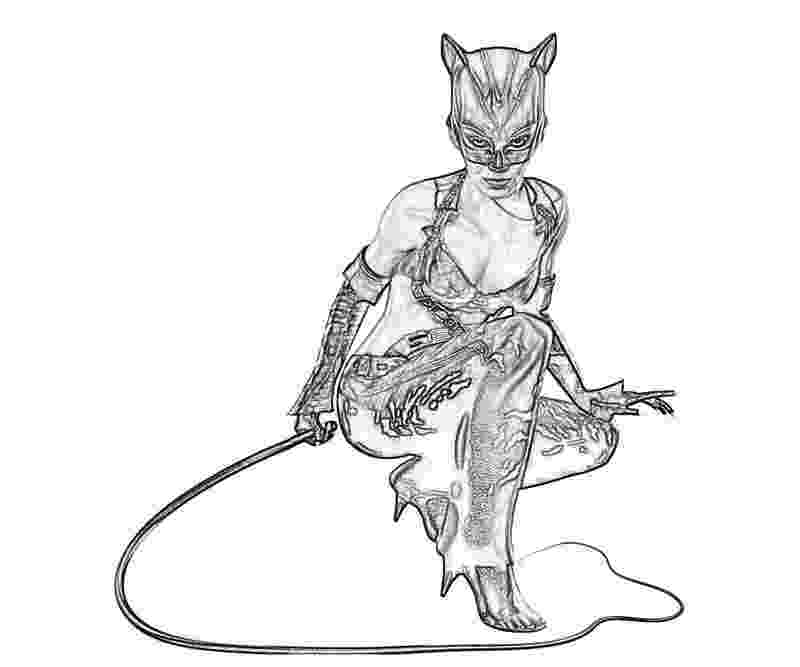 catwoman printable coloring pages batman arkham city batman catwoman yumiko fujiwara pages coloring catwoman printable