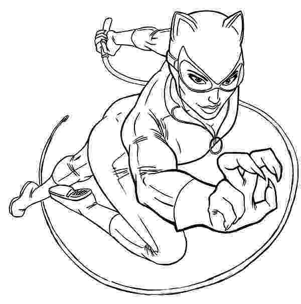 catwoman printable coloring pages catwoman drawing at getdrawingscom free for personal coloring catwoman pages printable