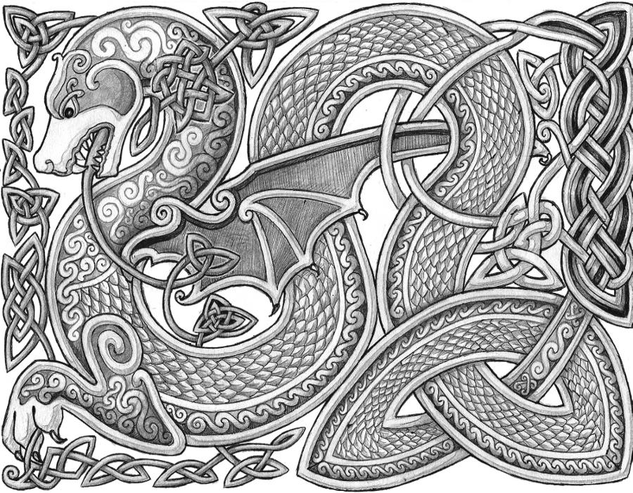 celtic art celtic dragon by lariethenedeviantartcom on deviantart celtic art