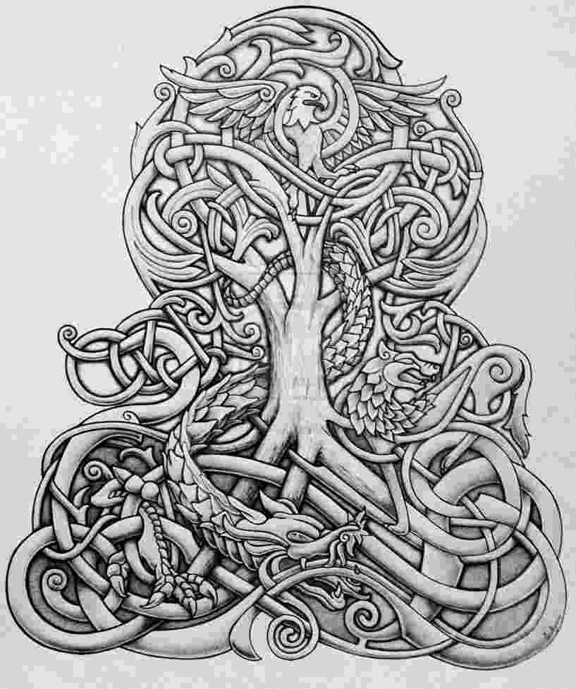 celtic art the tree of life misfitsandheroes celtic art