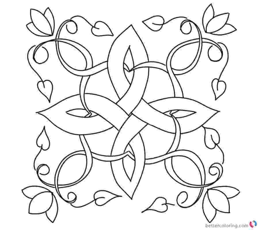 celtic coloring celtic knot coloring pages flowers and leaves free celtic coloring