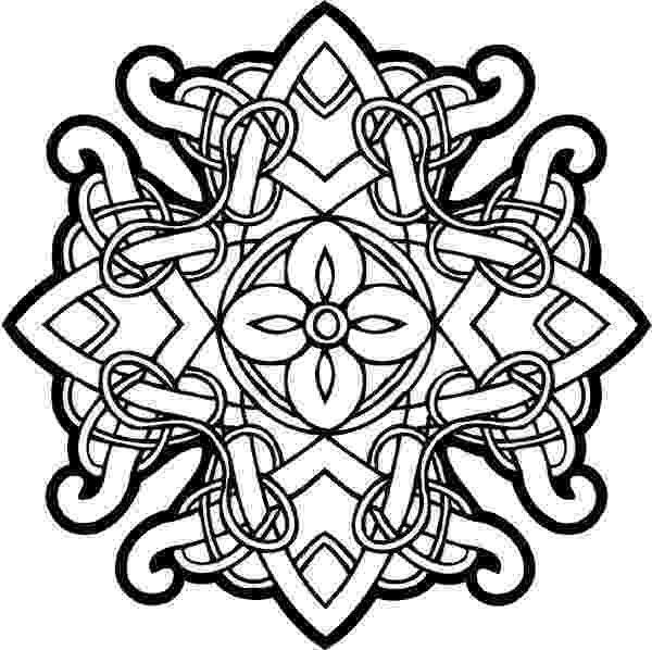 celtic mandala coloring pages for adults celtic designs celtic intricately woven emblem vinyl for coloring mandala adults pages celtic