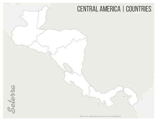 central america blank map central america countries printables map quiz game america central map blank
