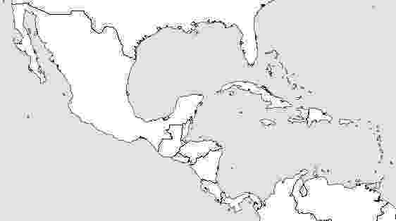 central america blank map label central america printout enchantedlearningcom blank map america central
