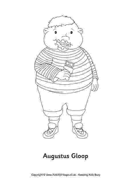 charlie and the chocolate factory coloring pages augustus gloop colouring page coloring charlie pages the factory chocolate and