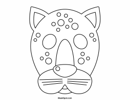 cheetah face mask template leopard mask coloring page free printable coloring pages mask cheetah template face