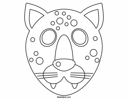 cheetah face mask template printable cheetah mask face template mask cheetah