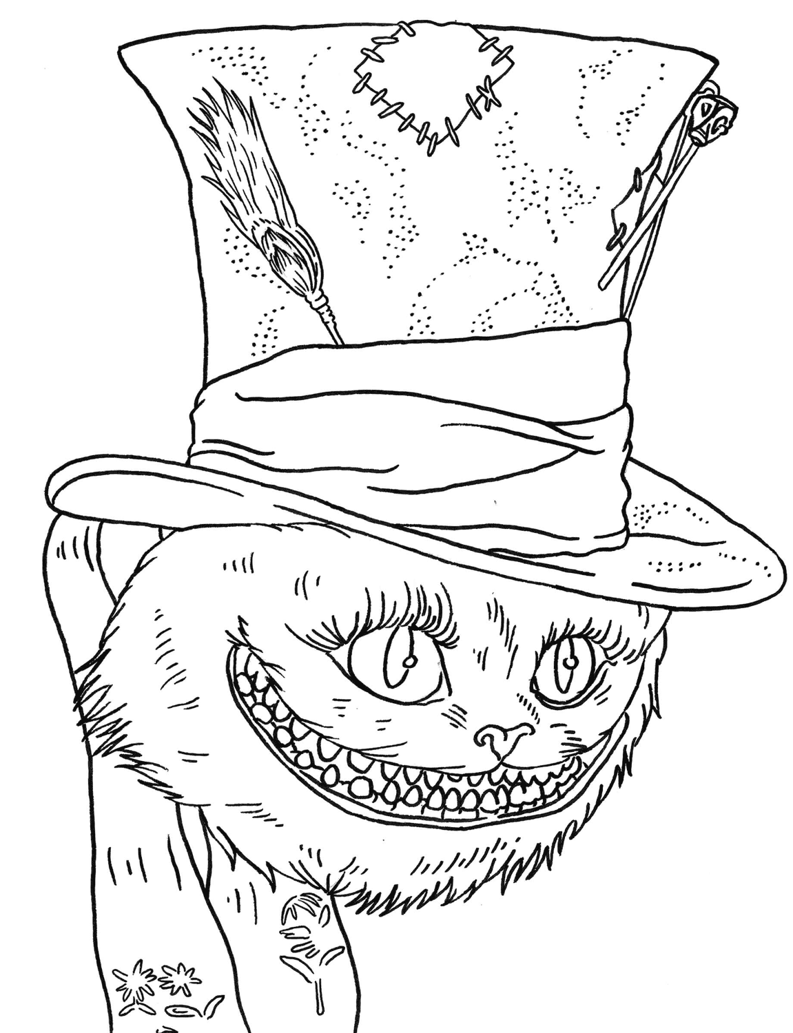 cheshire cat coloring pages alice in wonderland coloring pages 3 disneyclipscom cheshire pages cat coloring
