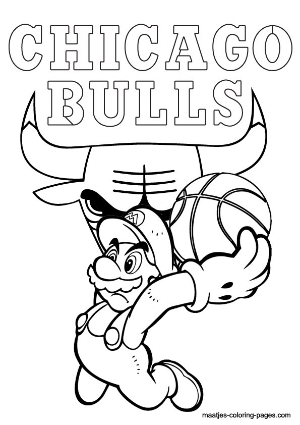 chicago bulls coloring pages chicago bulls and super mario nba coloring pages bulls coloring pages chicago