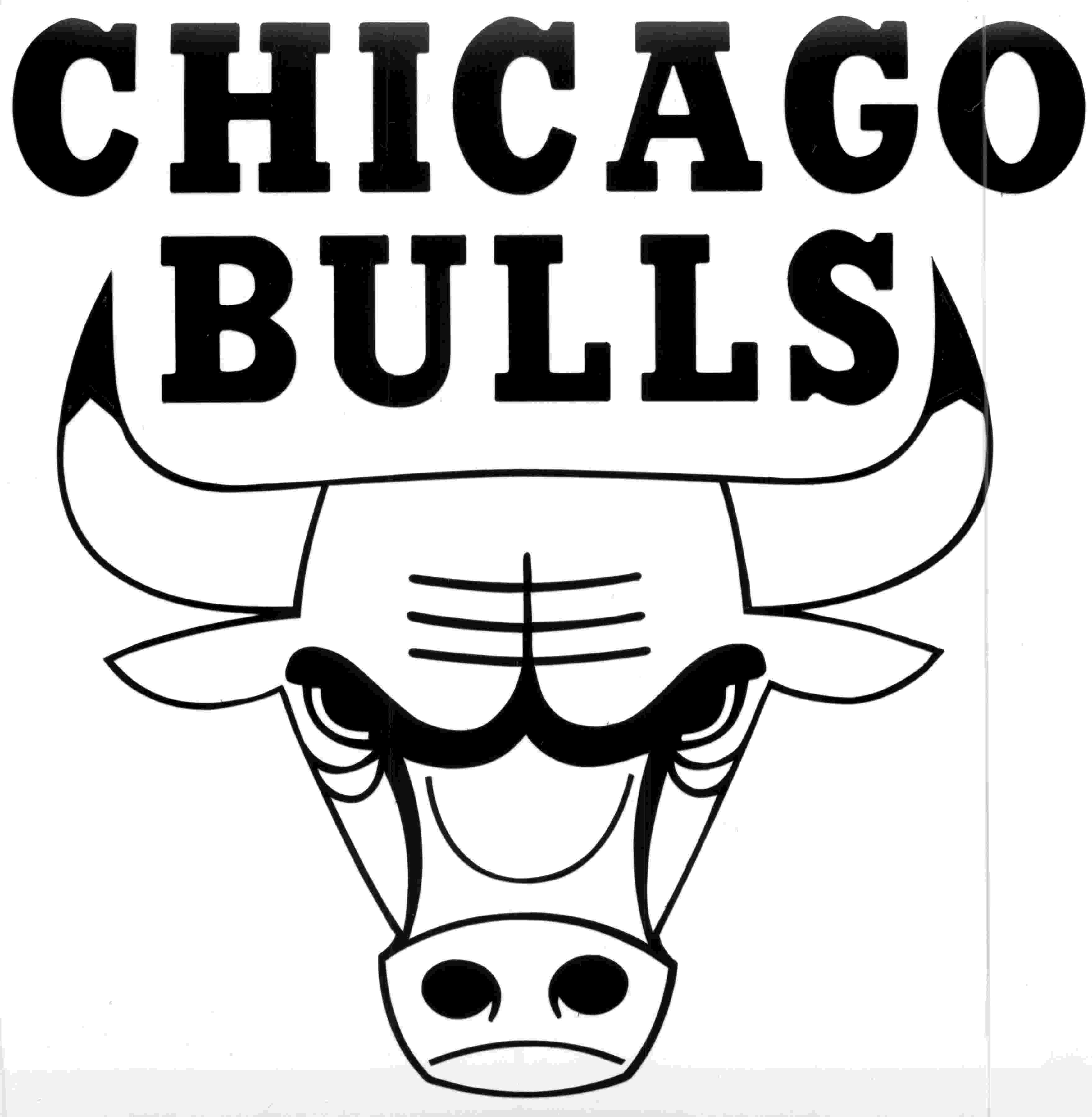 chicago bulls coloring pages chicago bulls logo black and white chicago bulls logo coloring chicago pages bulls