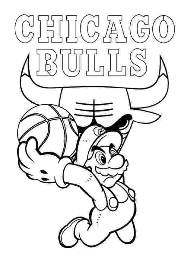 chicago bulls coloring pages super mario playing for nba chicago bulls coloring page chicago coloring bulls pages